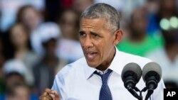 Le président américain Barack Obama, 13 septembre 2016.