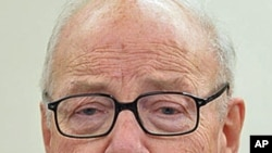 Former IAEA Director General Hans Blix, speaking to reporters, in Seoul, November 29, 2011