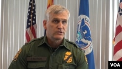 Paul Beeson, Chief of the Border Patrol in the Tucson Sector. (G. Flakus/VOA)