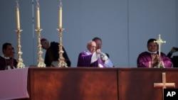 Папа Франциск. Экатепек, Мексика. 14 февраля 2016 г.