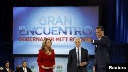 María Elena Salinas y Jorge Ramos condujeron los debates individuales con los candidatos a la Presidencia de EE.UU., Mitt Romney y Barack Obama.