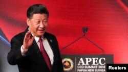 Chủ tịch Trung Quốc Tập Cận Bình đến dự hội nghị thượng đỉnh CEO APEC 2018 ở Port Moresby, Papua New Guinea, ngày 17 tháng 11, 2018.