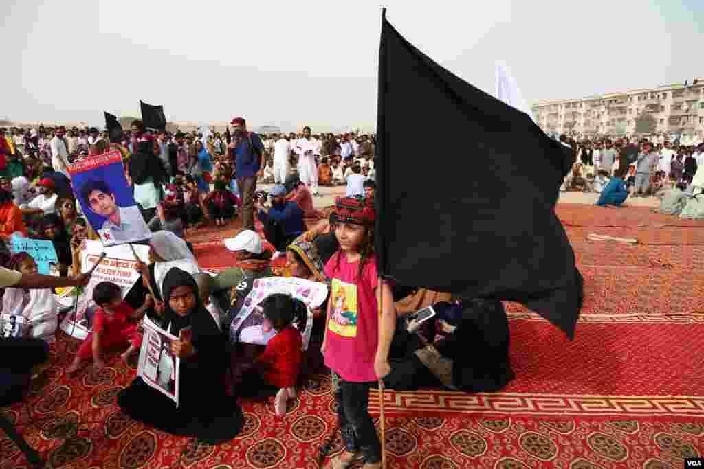 کراچی میں 'پی ٹی ایم' کا جلسہ