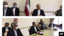 İran nükleer anlaşmasıyla ilgili bugünkü ön toplantıya katılan İran heyeti
