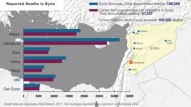 Syria, deaths from conflict, March 25, 2014