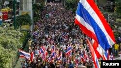 Biểu tình chống chính phủ trong thủ đô Bangkok, Thái Lan