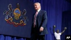9月22日星期四共和黨總統候選人川普在賓夕法尼亞州進行競選活動。