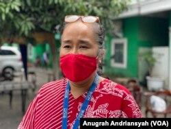 Koordinator Program IOM Indonesia, Sonya S Wallenta, saat berada di Medan, Kamis 10 Juni 2021. (Foto: VOA/Anugrah Andriansyah)