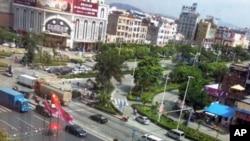 6月14日从新塘镇凯旋门酒店看到的市容