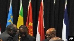 Líderes da Africa Austral reunidos na ultima cimeira da SADC no passado fim de semana na Africa do Sul