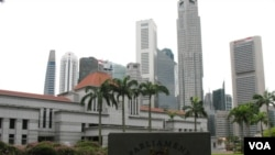 新加坡市區街景 (資料照片)