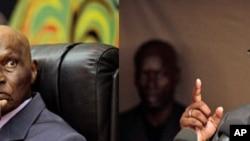 Abdoulaye Wade (à gauche) et son challenger Macky Sall