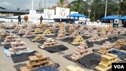 Colombia sigue siendo el mayor productor de cocaína, seguido por Perú y Ecuador. México es el país por donde se introduce a EE.UU.