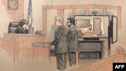 Ảnh phác hoạ phiên toà đầu tiên của cựu cảnh sát Derek Chauvin vào ngày 8/6/2020.