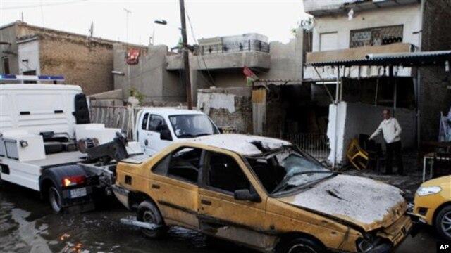지난달 31일 이라크 카라다에서 시아파 교도를 겨냥해 발생한 차량 폭탄 테러. (자료사진)
