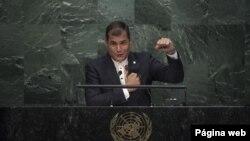Rafael Correa, presidente de Ecuador, dijo que es necesario avanzar hacia una Declaración Universal de los Derechos de la Naturaleza.