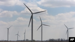 WInd turbines in Michigan.