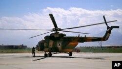 اکثر هلیلکوپترهای قوای هوایی افغانستان روسی است
