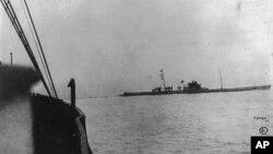 1915年4月德国潜艇接近巴达维亚号