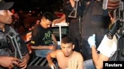 Capturas de delincuentes en San Pedro Sula, Honduras. Ciudad con altos índices de violencia.