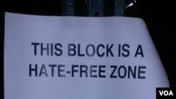 Los vecinos de la 'Mezquita de la Nación', en Washington D.C., decidieron salir en apoyo de la comunidad musulmana, declarando el barrio una 'zona libre de odio'.