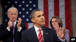 លោកប្រធានាធិបតី Barack Obama ថ្លែងសុន្ទរកថាអំពីស្ថានភាពសហព័ន្ធ។