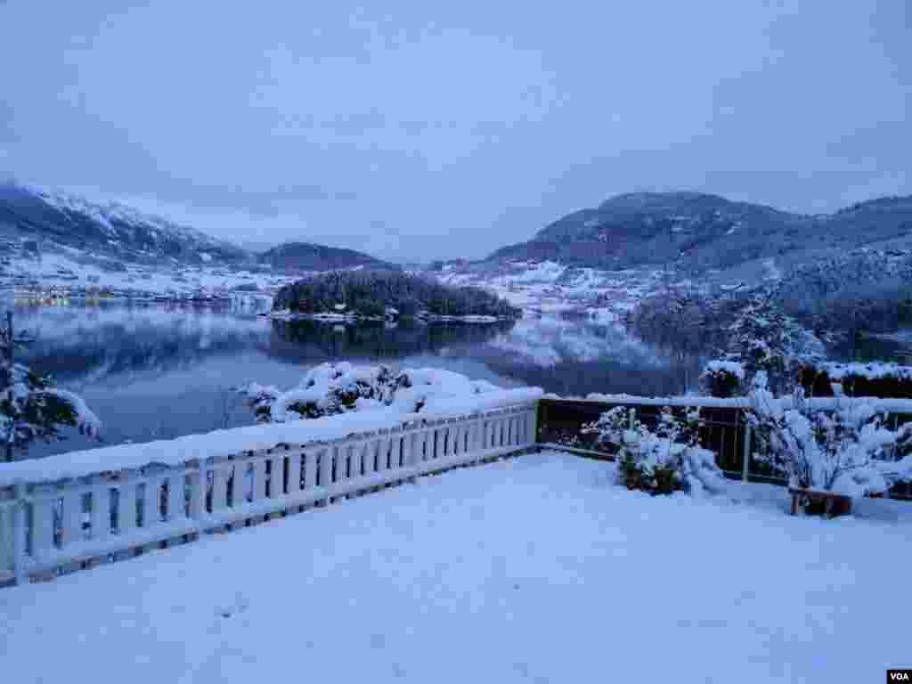 منظره برفی در سوگندال نروژ عکس: آلان قادری (ارسالی شما)