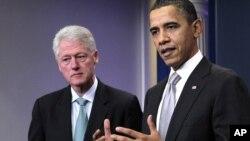 El presidente Barack Obama y el expresidente Bill Blincton, participarán este lunes en eventos de recaudación de fondos en Nueva York.