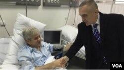 Ali Ahmeti hospitalized
