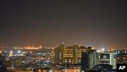 Imagem nocturna de Maputo
