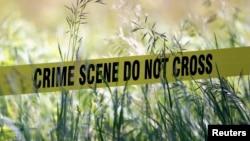 Cinta amarilla en la escena de un crimen: los homicidios en las principales ciudades de Estados Unidos disminuyeron en 2013.