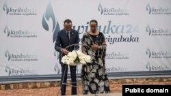 Perezida wa Repubulika Paul Kagame ashyira indabo ku mva