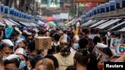 Hình ảnh một khu chợ ở Philippines.