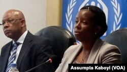 Ministiri Germaine Kamayirese, ushinzwe ubutabazi na Ahmed Baba Fall uhagarariye HCR mu Rwanda