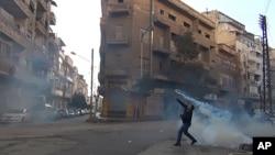 حمص میں احتجاجی مظاہرہ
