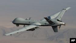 지난 2월 아프가니스탄 남부에서 비행 중인 미군 무인 공격기. (자료사진)