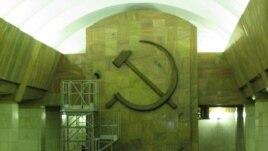 俄罗斯圣彼得堡的一个地铁站。(美国之音白桦拍摄)