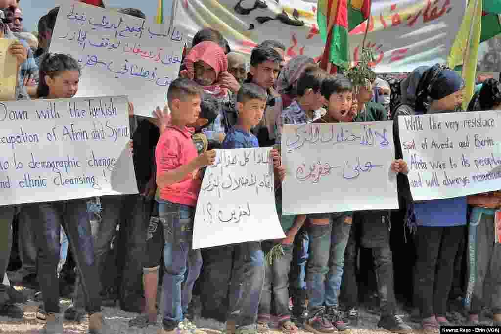 Roja Cîhanî ya bi Efrînê re