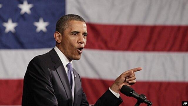 President Barack Obama speaks during Democratic National Committee event at the Hyatt at The Bellevue, in Philadelphia, June 30, 2011