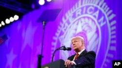 Ảnh tư liệu: Tổng thống Trump phát biểu tại thành phố Reno, Nevada ngày 23/08/2017