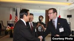 台湾前外交部长杨进添会晤罗斯坎议员(台湾外交部)