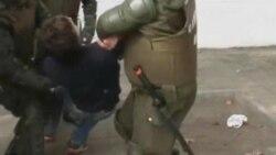 تظاهرات اعتراضی دانشجويان در شيلی