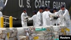 Cocaina apreendida pelas autoridades americanas no mar alto