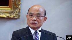 资料照:台湾行政院长苏贞昌