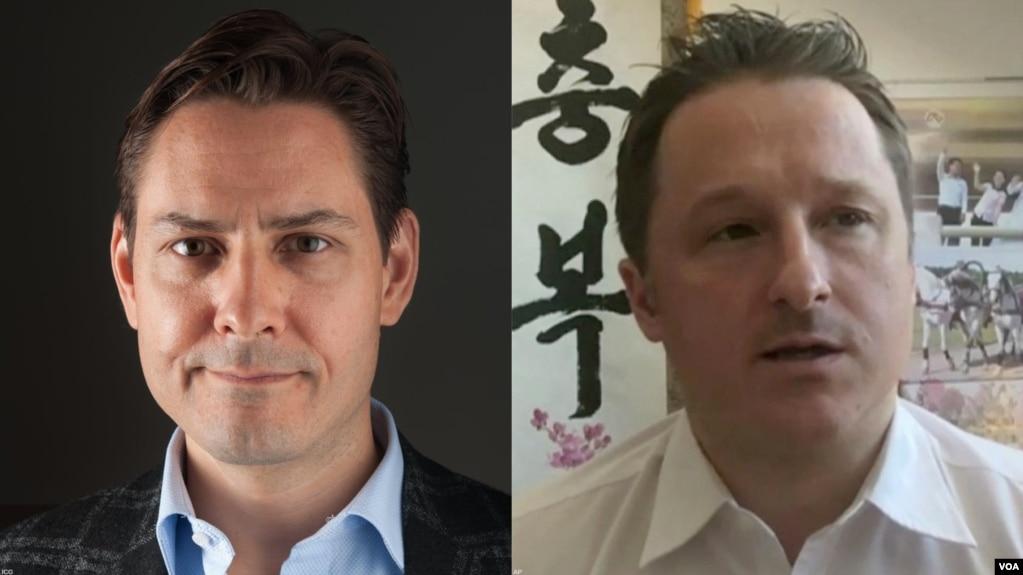 Ông Michael Kovrig và ông Michael Spavor, hai người Canada đang bị Trung Quốc giam giữ.