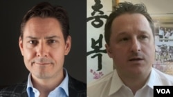 Michael Kovrig (left) and Michael Spavor are the two Canadians who were detained by China. Chinese officials say they are being investigated for acts that hurt state security.