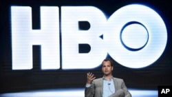 Casey Bloys, president, HBO programming, participates in a panel during the HBO Television Critics Association Summer Press Tour at the Beverly Hilton, July 26, 2017, in Beverly Hills, California.