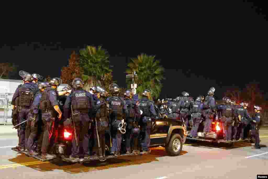 فرگوسن میں ہنگاموں پر قابو پانے کے لیے پولیس کی بھاری نفری تعینات کی گئی۔