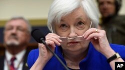 Federal Reserve Board Chair Janet Yellen prepares to testify on Capitol Hill in Washington, Feb. 10, 2016, before the House Financial Services Committee hearing on monetary policy and the state of the economy.