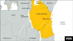 Tanzania map, Lake Tanganyika
